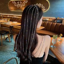 Fashion Crystal Tassel Hair band Women Hair Accessories Rhinestone Headdress