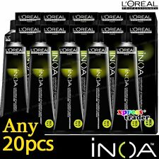 Any 20pcs L'Oreal Professionnel Inoa ODS2 Technology Color Cream Hair Dye 60g
