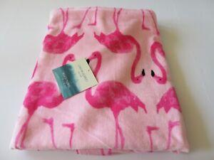 "Cynthia Rowley 36"" x 70"" Oversize Beach Towel Pink Flamingos Print New With Tag"
