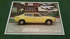 DATSUN CHERRY FII F2 SALOON JUNE 1978 UK LEAFLET BROCHURE Carnell Doncaster