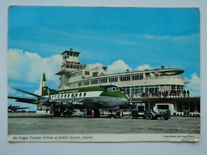 Hinde large colour PC Aerlingus Viscount at Dublin Airport. Posted 1960's