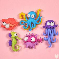 DRESS IT UP Buttons Creatures Of The Sea 8298 - Fish Octopus Seahorse