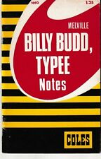 Melville: Billy Budd, Typee Notes - PB 1970 - Coles Notes - O.B. Emerson - Rare