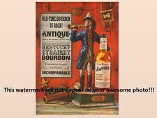 Vintage Four Roses Bourbon Whiskey PHOTO Advertisement Fireman Bottle Ad Sign