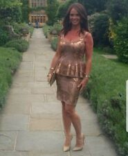 forever unique size 10 bronze and antique gold bodycon party dress