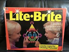 Lite Brite Milton Bradley Game Box Pegs Stencils 1993