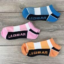 3 x La Gear Trainers Ladies Socks Sports Fitness UK 4-8 EU 37-42 A362-4