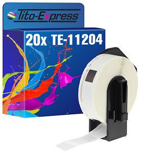 20x Etikett für Brother P-Touch DK-11204 17x54mm QL 1050 QL 1050 N QL 1060 N