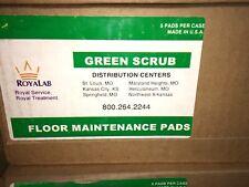 "RoyaLab green scrub floor maintenance pads 14"""