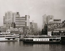 Bob-Lo Boat Dock Vernors Plant Woodward Ave. Detroit MI River Front 1920 GREAT