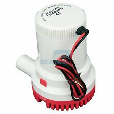 12V 2000GPH Bilge Pump Marine Boat Submersible Water Pump Non-Automatic