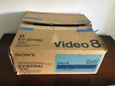 Sony EV-S700U Video 8 Player Audio Video Cassette Recorder W/BOX TESTED WORKS