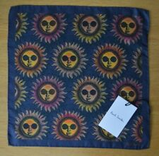 Paul Smith Psychedelic Sonne Anzug POCKET SQUARE Taschentuch 100% Seide