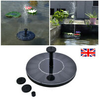 Solar Powered Floating Bird Bath Water Fountain Pump Garden Pond Pool Decor UK