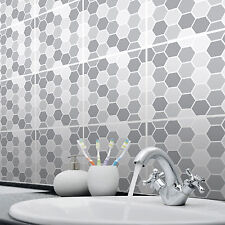 Tile Stickers Transfers for Kitchen, Bathroom and Furniture Mosaic Hexagon Style