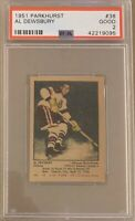 1951 1952 PARKHURST Al Dewsbury PSA 2 Good #38 GD Blackhawks Chicago REGRADE ??