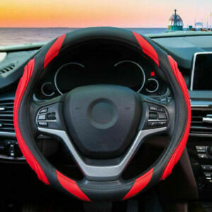 Mayco Bell DIY Genuine Leather Car Steering Wheel Cover Soft Anti Slip 100/% Cowhide Braid with Needles Thread Black Red