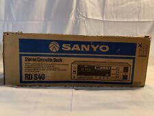 Vintage Sanyo Stereo Cassette Deck Rd-S40, Works! Make offer. Free shipping!