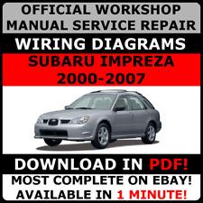 # OFFICIAL WORKSHOP Service Repair MANUAL for SUBARU IMPREZA 2000-2007 #