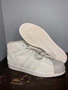Size 11.5 - Adidas Originals Pro Model Beige Brown Shell Toe Shoes [BZ0213] Men