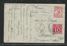 AUSTRALIA (P2706B) 1913 1D ROO ON PPC TO AUSTRIA SHORT PAID AUS POST DUE 10C