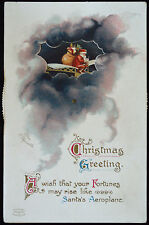 Weihnachten Mechanische Flugzeug Fliegen Weihnachtsmann Unterzeichnet Ellen