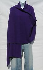 100% Cashmere|Shawl/Wrap|4 Ply|Hand Loomed|Nepal|Mini Herringbone|Purple