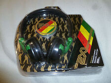 NEW 2XL BY SKULLCANDY FULL SUSPENSION HEADBAND HEADSET SHAKEDOWN RASTA X5SHCZ810