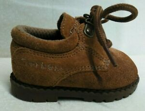 Gerber Size 2 Baby Shoes, Suede, Hiking Boots Style