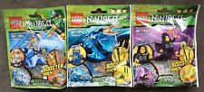 LEGO NINJAGO BOOSTER PACK LOT (3) ZANE ZX 9554,JAY ZX 9553, LLOYD GARMADON 9552
