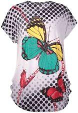 Maglie e camicie da donna maniche a pipistrello grigi casual