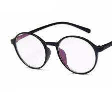 Fashion Unisex Men Women Clear Plain Lens Large Oval Plastic Frame Glasses Specs