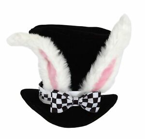 Costume Accessory - White Rabbit Ears Top Hat