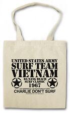 SURF TEAM VIETNAM II Hipster Shopping Cotton Bag - Apocalypse Now Movie Da Nang
