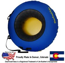 "ClearCreekTubes Snow Tube Huge 44"" Inflated Towable or Non-Towable!"