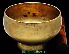 """Antique Tibetan Singing Bowl: Stem 5 7/8"""", circa 18th Century, C4 & F5. VIDEO"""