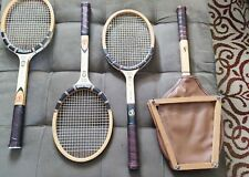 Vintage Wooden Guarded Tennis Racket 1960 Spalding Pancho Gonzales Signature