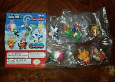 Super Mario Bros U Tomy Gacha Danglers Complete Set of 6 Dangler Figures 2014