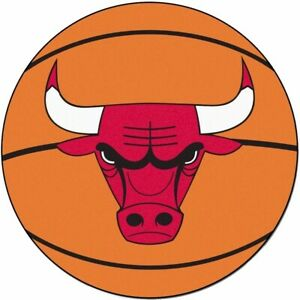 NBA Chicago Bulls Basketball Mat Rug 26 Inch Diameter