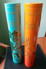 2 x Fortnum & Mason Biscuit Tins Tall 35cm Cylindrical Storage Lucifer's Chilli