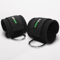 A2ZCARE Padded Ankle Strap for Cable Machines D-Ring Ankle Cuff (Set of 2)