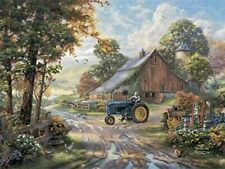 New Listing Thomas Kinkade Tin Metal Sign 17x12 inch Summer's Heritage Painting Wall Decor