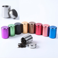 Airtight Smell Proof Container Aluminum Herb Stash Tea Jar Metal Can Brigh Hot