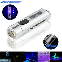 JETBeam 365nm Red Green Blue UV Light Type-C Rechargeable Keychain Flashlight