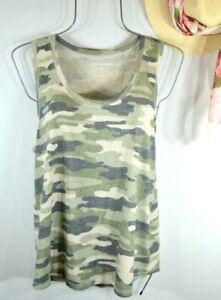 Lucky Brand Women's Summer Camo Tank Top T-shirt Tee Size Large NWT