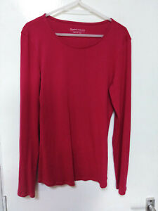 M&S Marks & Spencer Esstentials Collection Top/blouse Cherry Red Cotton UK12