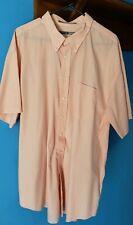 Comfort Zone Men's Size 19 Big short sleeve dress shirt. Peach color
