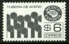 MEXICO Exporta 1121C $6P Iron Pipes P 11 1/2 X 11. Fluor Paper 8 MNH