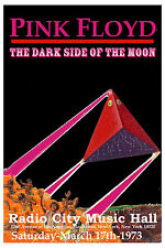Classic Rock: Pink Floyd at the Radio City Music Hall  NYC  Concert Poster 1973