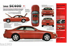 LEXUS BROCHURES / Road Tests Collection:SC400,LS400,GS300,SC,400,LS,GS 300,1998,